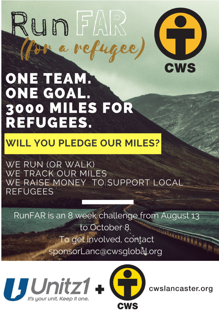 one team.one goal.3000 miles for refugees.