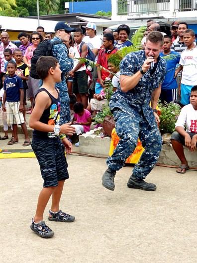 Savusavu - June 2015 - Pacific Partnership Band Lead and Fans_Copy
