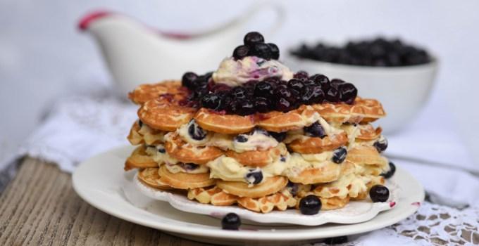 Blueberry Waffle Cheesecake – Baking Nation