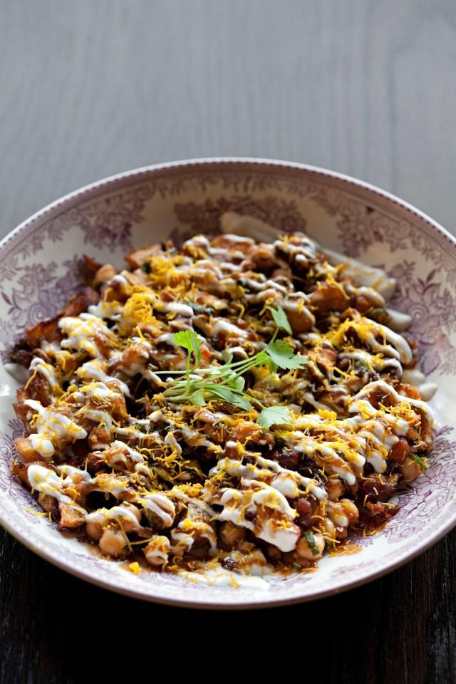 Potato Chat, Chickpeas, Tamarind, Sev 1