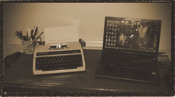 This is my first typewriter. I created my first story on this machine.