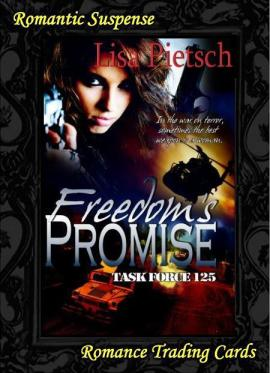 the path to freedom, lisa pietsch, romance trading cards, task for 125, freedom's promise