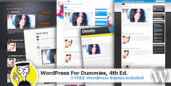 WordPress For Dummies 4th Edition with 5 Bonus Free WordPress Themes