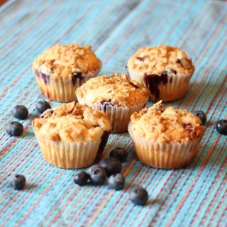 Blueberry Muffins with Almond Streusel Topping