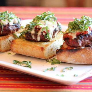 Grilled Italian Meatloaf Burgers