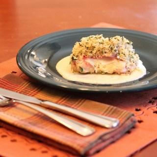 Chicken Cordon Bleu with White Wine Mustard Cream Sauce
