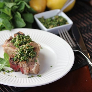 Grilled Lamb Chops with Minted Gremolata