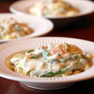 Grilled Vegetable Fettucine Alfredo