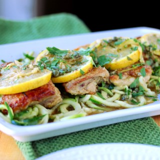"Chicken Piccata with Zucchini ""Noodles"""