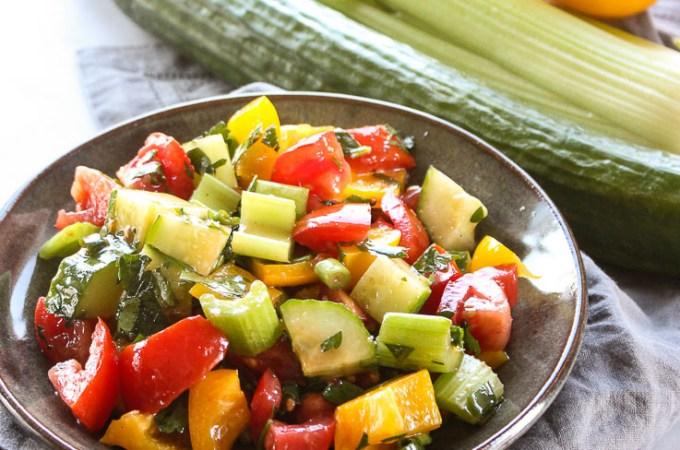 Lisa's Dinnertime Dish:  Chunky Gazpacho Salad