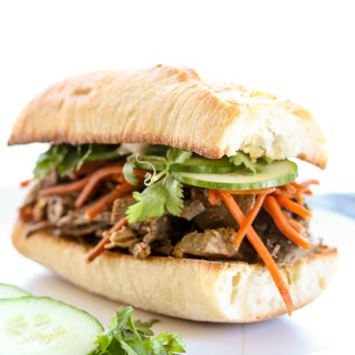 Banh Mi Inspired Slow Cooker Steak Sandwiches