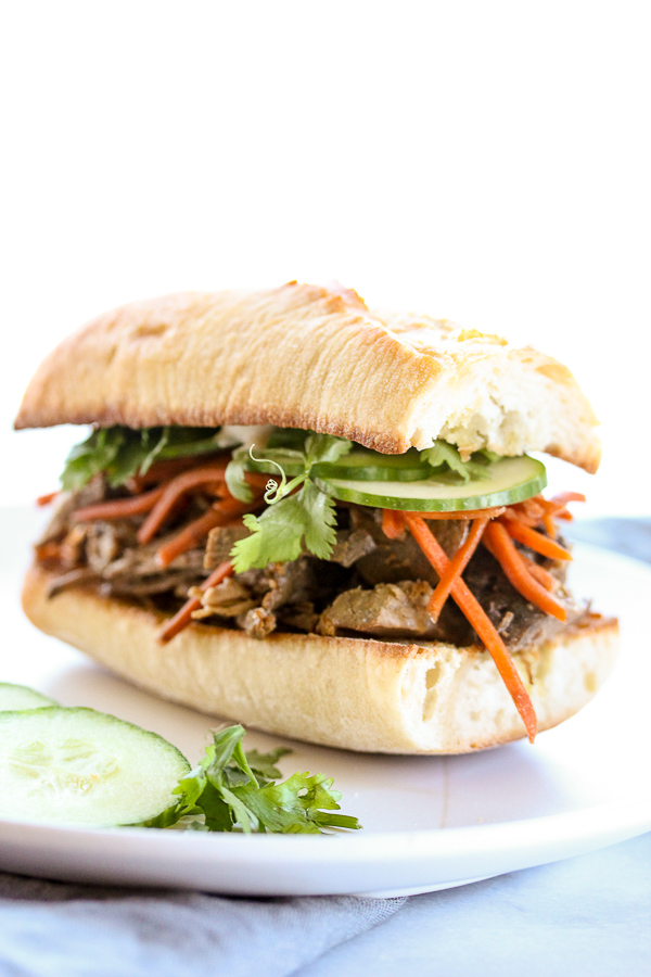 ... these banh mi inspired slow cooker steak sandwiches something special