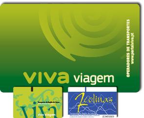 Cartes de transport Viva Viagem et 7 Colinas