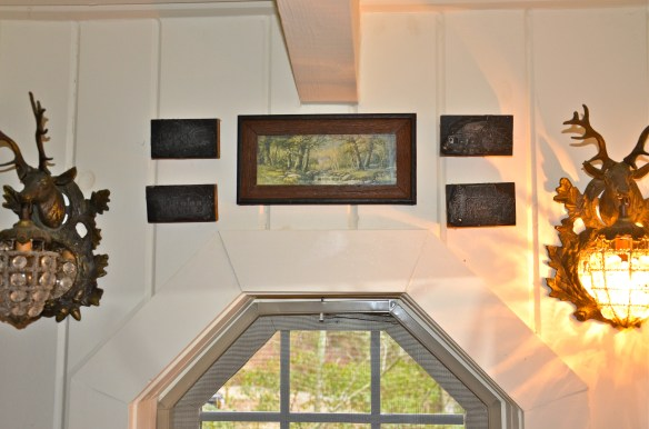 I love these wood blocks over the window–they are carvings of historic houses in Beauford, S.C.