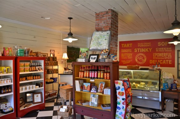 Be sure to stop by the specialty food and cheese shop