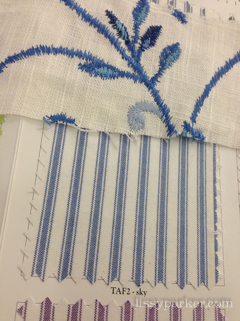 blue stripe and blue ticking stripe