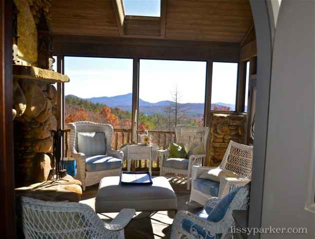 Porch and fireplace—just off of the kitchen ... yes, please