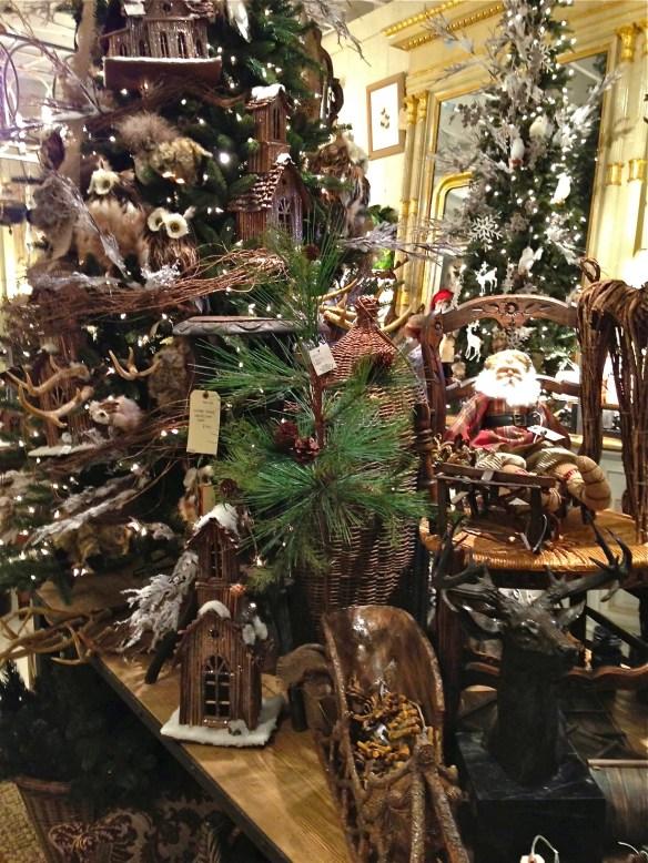 Tree trimmings and Santa