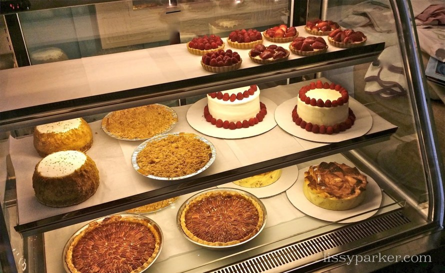 Raspberry tarts, apple tarts, bread puddings and the Napoleon's were already gone
