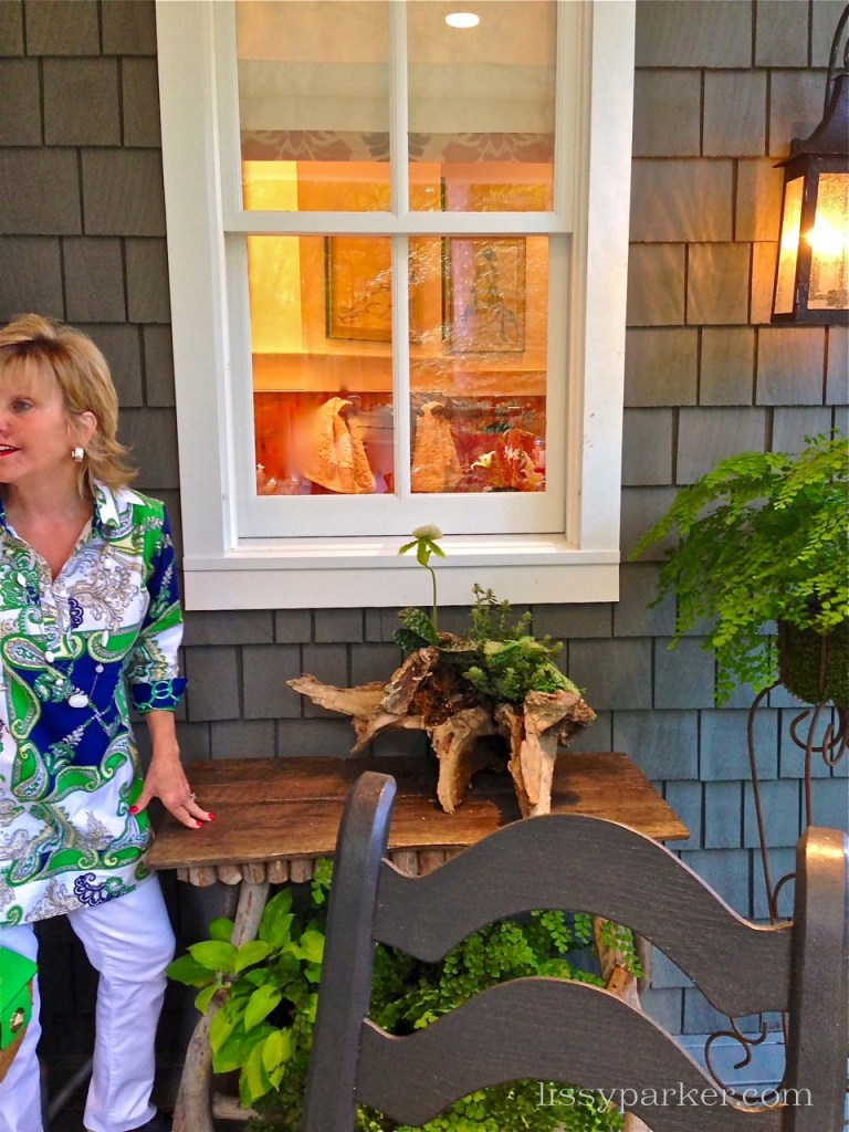 Cedar shakes cover the house—have always loved them