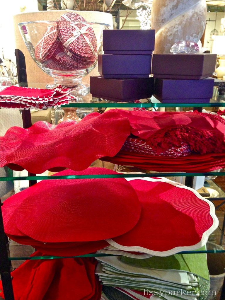 These red place mats are just what you need for your table