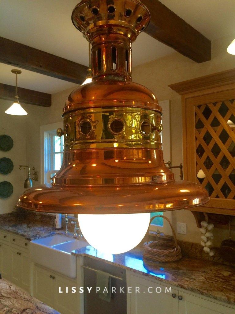 Lanterns were custom made in England