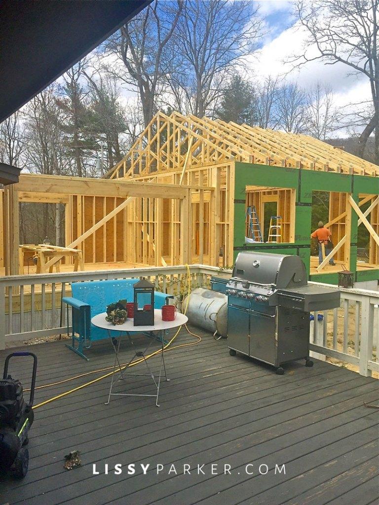 Addition house framing