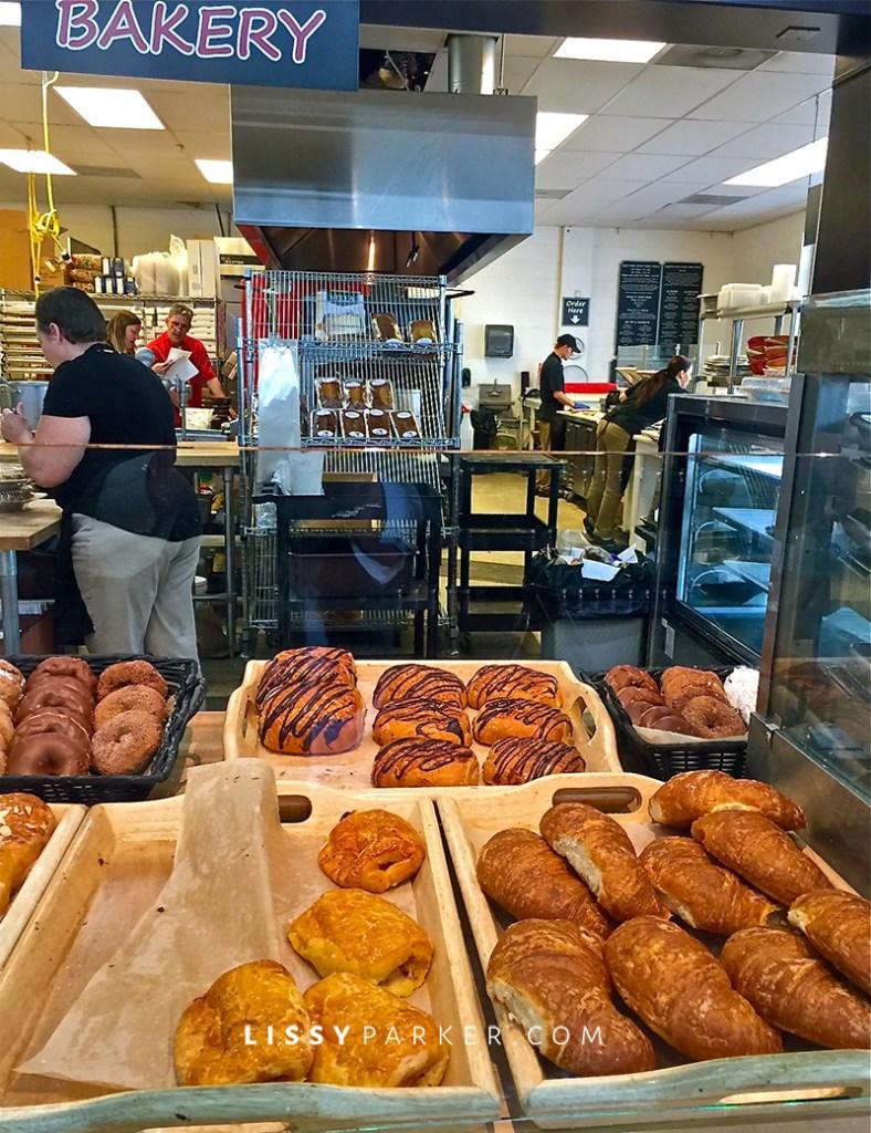 a tray of doughnuts