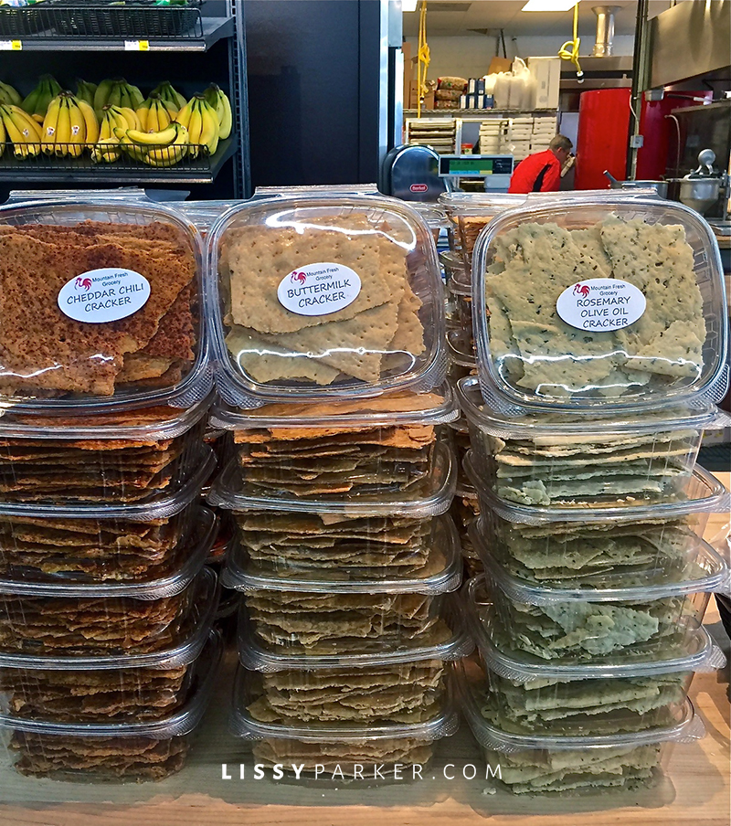 home made crackers in three flavors