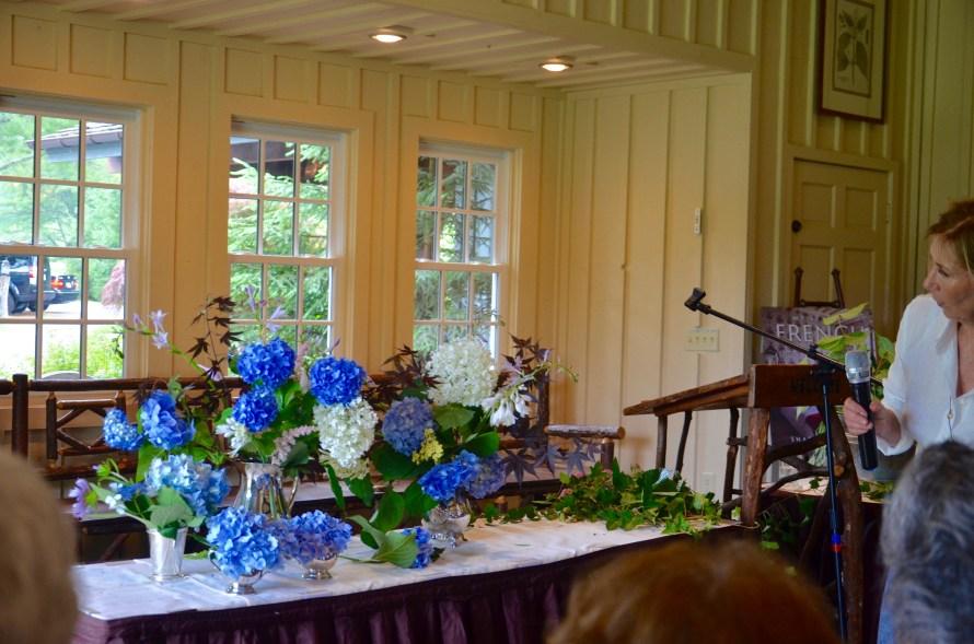 Blue hydrangea flower arrangements