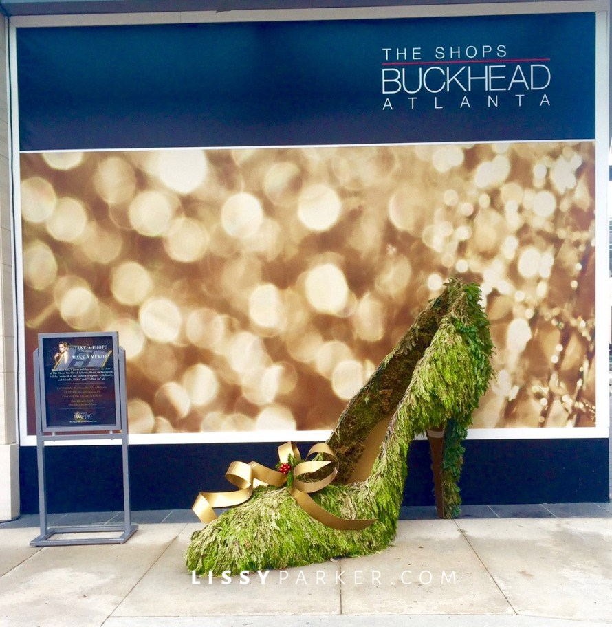 Giant high heel for Christmas