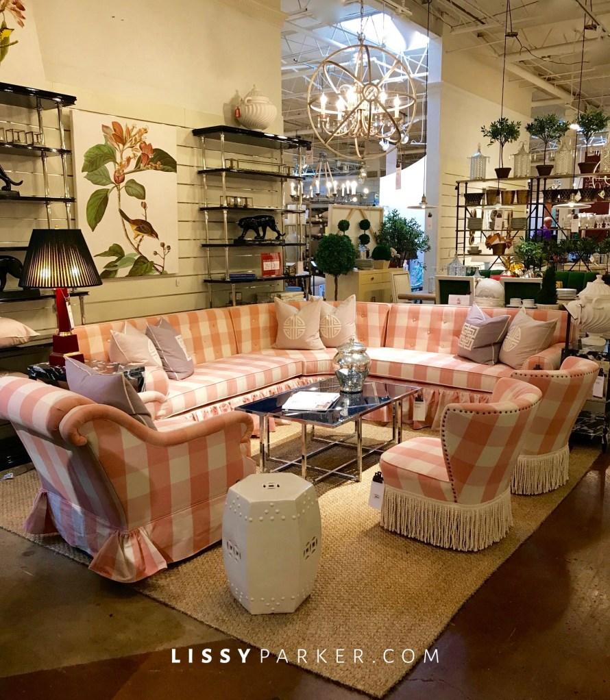 pink gingham, Miles Redd