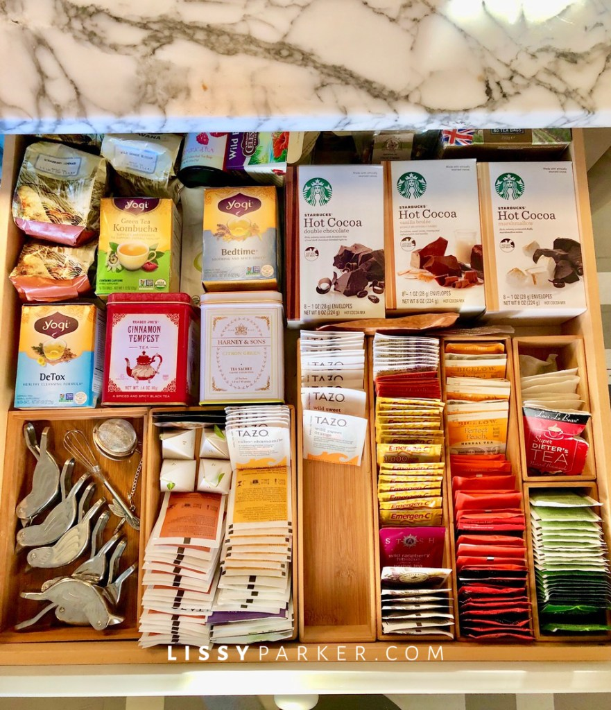 tea and hot chocolate drawer