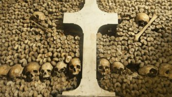 Paris Catacombs Skulls and bones