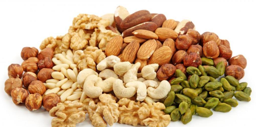 nuts-on-white-background