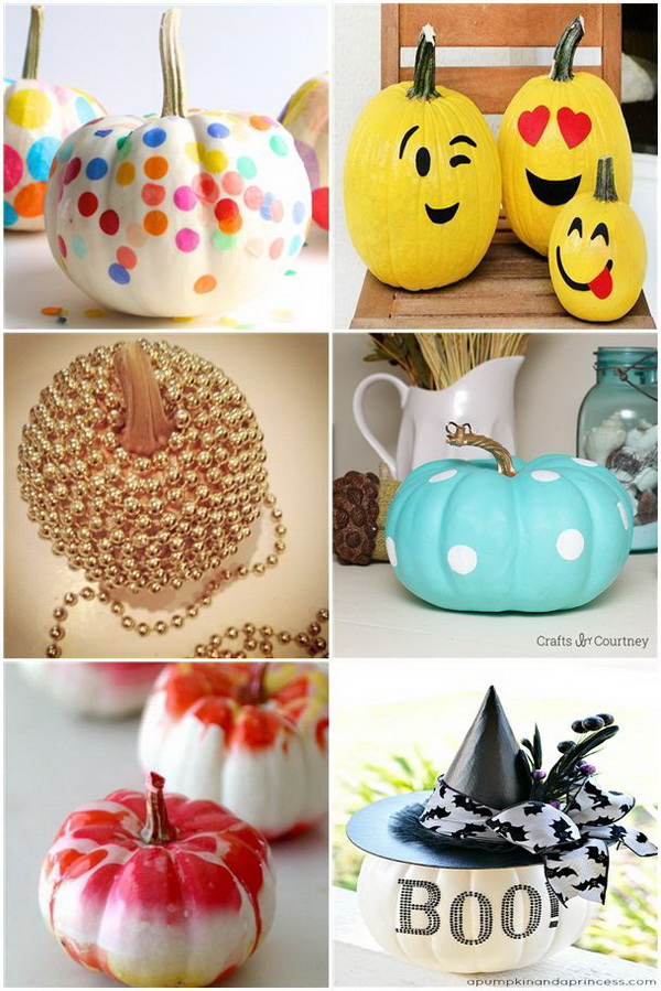 30 No Carve Pumpkin Decoration Ideas   Tutorials   Listing More No Carve Pumpkin Decoration Ideas   Tutorials