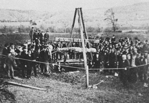 Cardiff Giant Exhumed 1869