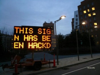 Hacked Sign