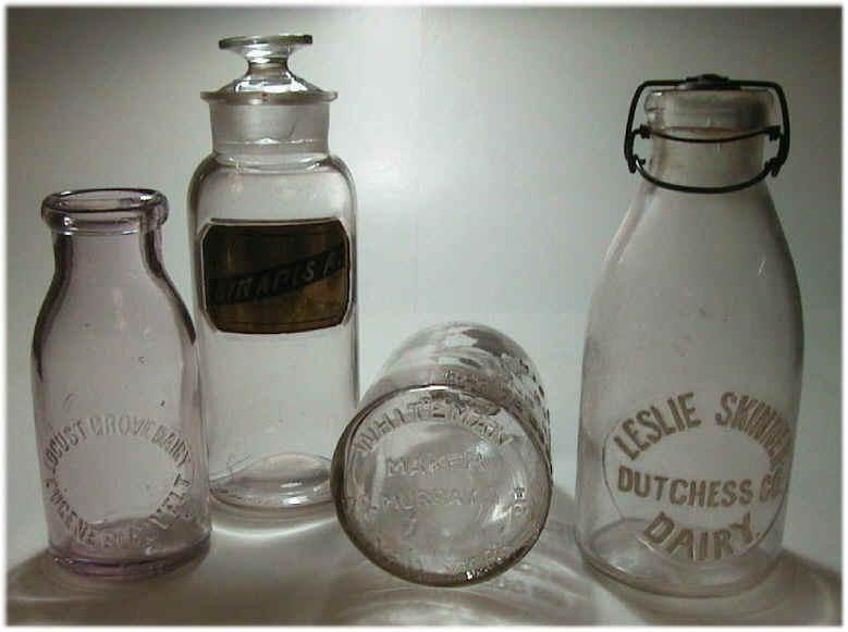 Antique Glass Sardine Containers