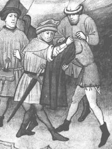 Sm 1430-40 Robbing Clothes - Bocaccio's Decameron - Doublet Tarrant17-1
