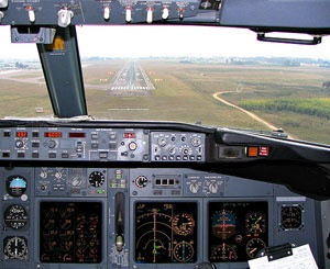 Cockpit-Landing