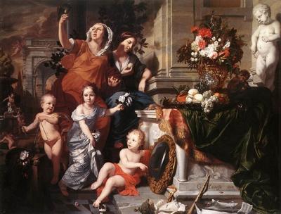 1668 Gc3A9Rard De Lairesse - Allegory Of The Five Senses