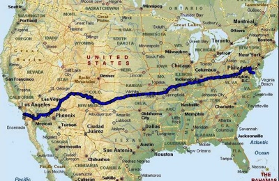 Race-Across-America-Map