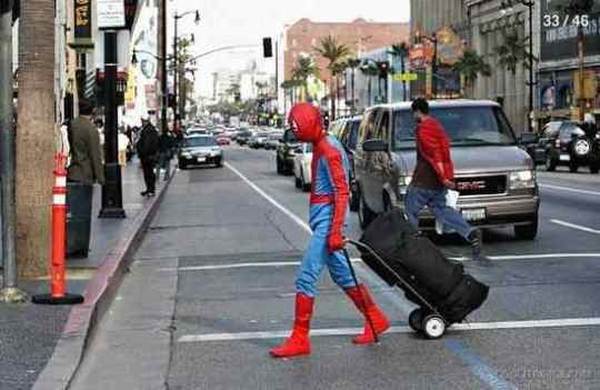 Spiderman Crossing Road