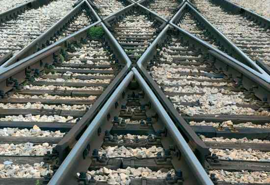 Stock Traintracks Close