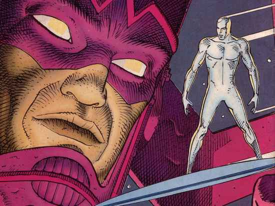 Comics Wallpaper: Silver Surfer And Galactus (By Moebius)