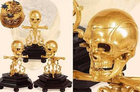 Skull-Automaton-Clock