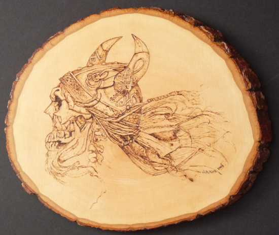 Spirirt-Of-Celtic-Warrior-Pyrography