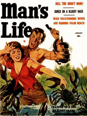 Man's Life - 1958 01 Jan - Cover By Wil Hulsey-8X6