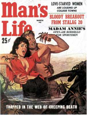 Man's Life - 1959 03 March - Cover By Wil Hulsey-8X6